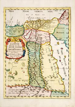 EGYPT divisee en ses COUZE CASSILIFS ou GOUVERNEMENTS.: SANSON, Nicolas.