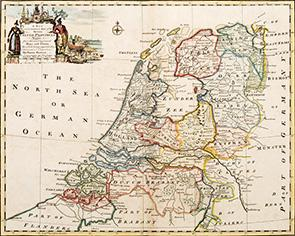 A NEW and CORRECT MAP of the Seven UNITED PROVINCES. Drawn from the most approved Maps and Charts; ...