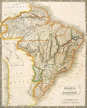 BRAZIL AND PARAGUAY.: HALL, Sydney.