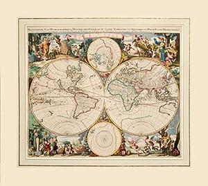 Mappe-Monde. geo-hydrographique, ou description generale du globe terrestre et aquatique en ...
