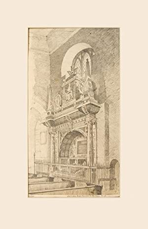 Lord and Lady Dacre's Monument in Old Chelsea Church: Artist: BLUNT. A.C.