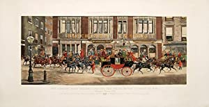 The Leading Road Coaches Leaving the White Horse Cellars, XI AM Summer Season, 1888.: Harington ...