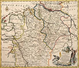 A CORRECT MAP OF the North West Part of GERMANY containing WESTPHALIA & WEST SAXONY including ...
