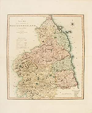 A NEW MAP of the COUNTY of NORTHUMBERLAND Divided into Hundreds.: SMITH, C.