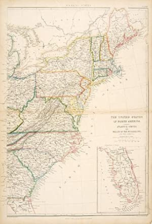 THE UNITED STATES OF NORTH AMERICA. ATLANTIC STATES AND VALLEY OF THE MISSISSIPPI. (IN TWO SHEETS) ...