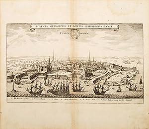 HAFNIA METROPOLIS ET PORTUS CELEBERRIMUS DANIAE. COPPENHAGEN: GOTTFRIED, Johann Ludwig.Engraved