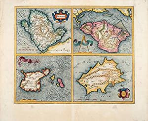 Anglesey, Wight, Garnesay, Iarsey: MERCATOR, Gerard