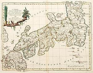 L'IMPERO DEL GIAPON diviso in sette principali parti The Empire of Japan, divided into seven ...