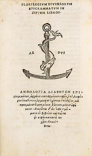 Florilegium diversorum epigrammatum in septem libros, in: GREEK ANTHOLOGY.)