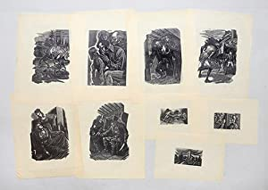 Woodcut proofs for Wuthering Heights.: BRONTË, Emily.) EICHENBERG,