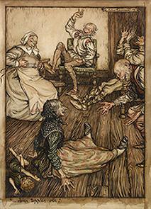 Original watercolour for A Midsummer Night's Dream: RACKHAM, Arthur.