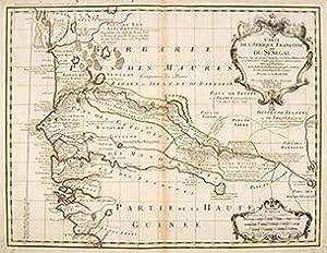 CARTE DE L'AFRIQUE FRANÇOISE OU DU SENEGAL. A map of French Africa (or Senegal).: ...