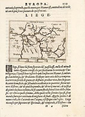LIEGE: BOTERO, Giovanni. Engraved by Ortelius.