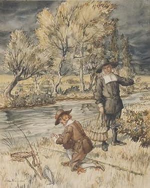 Original watercolour From Izaak Walton's The Compleat: RACKHAM, Arthur.