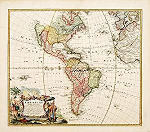 Americae Mappa generalis General Map of America.: HOMANN, Heirs.