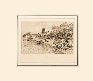 Old Cheyne Walk Drawn and etched by Arthur Severn.: SEVERN, Arthur