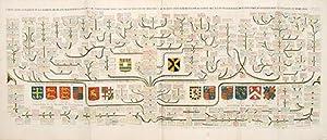 Carte généalogique de la maison de Plantagenette et des ducs Normandie avec les ...