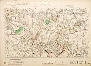 Untitled map of London] Sheet 26.: MARTIN, Hood & Larkin (lithog.)