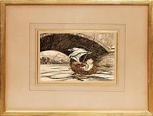 Original watercolour from Peter Pan in Kensington: RACKHAM, Arthur.