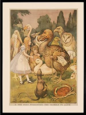 Macmillan's Coloured Wall Illustrations. Alice in Wonderland. 2. The Dodo presenting the ...