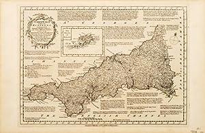 Cornwall divided into Hundreds.: BOWEN, Emanuel & Thomas Kitchin.
