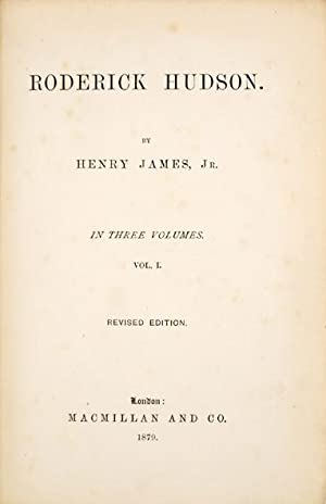 Roderick Hudson. By Henry James, Jr. In: JAMES, Henry.