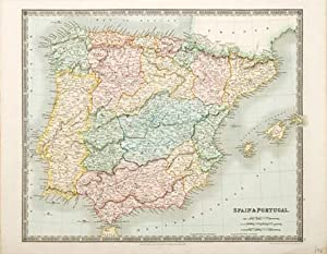 Spain & Portugal.: TEESDALE, Henry.