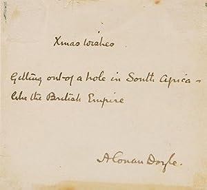 Signed personal photograph of Arthur Conan Doyle: DOYLE, Arthur Conan.