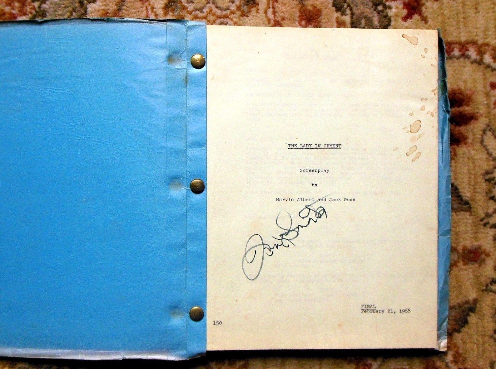 "1968 Original FRANK SINATRA - SIGNED - SCREENPLAY / SCRIPT ""THE LADY IN CEMENT"" Rare..."