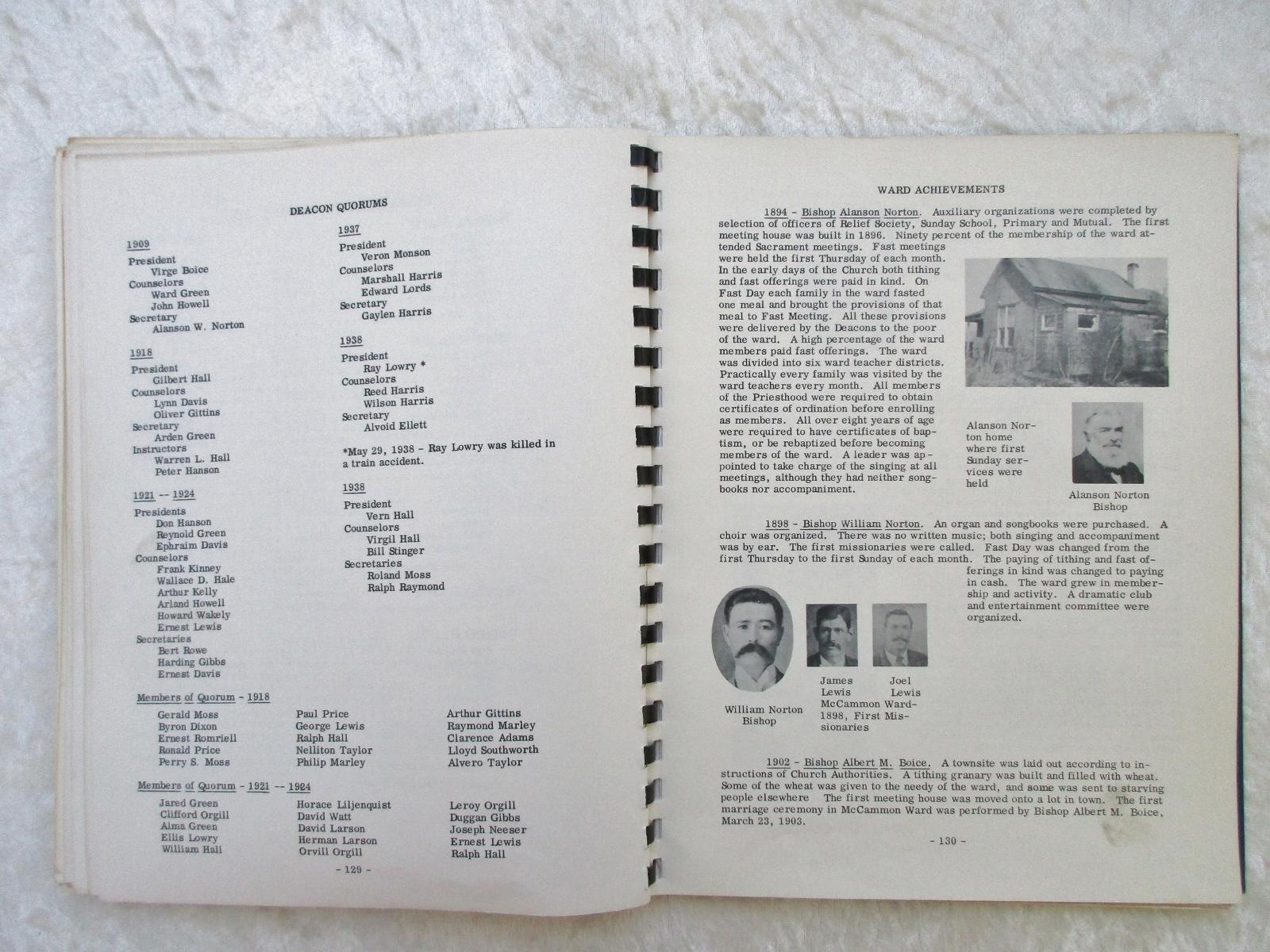 1956 Mormon Genealogy MEMORIES OF MCCAMMON