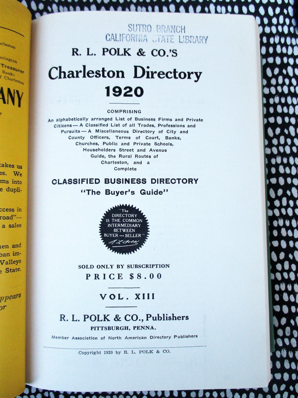 1920 Original CHARLESTON West Virginia