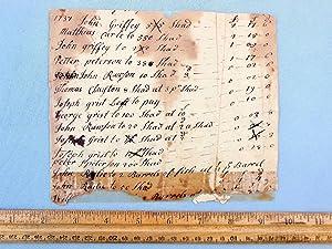 1737-1796 HANDWRITTEN EPHEMERA LEDGER DOCS - COLONIAL PENNSYLVANIA AMERICANA