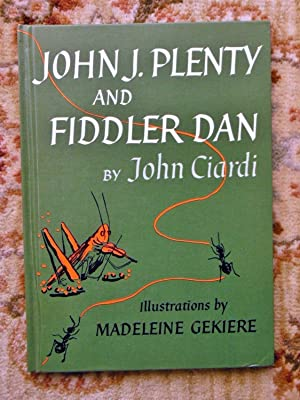 JOHN CIARDI - SIGNED & INSCRIBED - POETRY PICTURE BOOK - FIDDLER DAN First Edition 1963