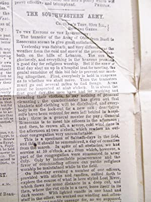 "1862 CIVIL WAR NEWSPAPER ""THE INDEPENDENT"" BATTLE REPORTS Edited by HENRY WARD BEECHER: ..."