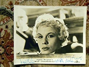 INGRID THULIN & BIBI ANDERSSON - 2 INGMAR BERGMAN FILM STILLS - SIGNED by INGRID THULIN