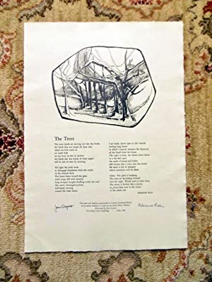 ADRIENNE RICH BROADSIDE LOWELL HOUSE PRINTERS 1/75 SIGNED by both the POET & by the ARTIST 1964