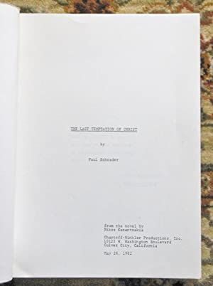 1982 MARTIN SCORSESE LAST TEMPTATION OF CHRIST - EARLY DRAFT SCREENPLAY / SCRIPT