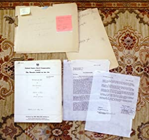 STEINBECK OF MICE AND MEN ORIGINAL RADIO SCRIPT ADAPTATION w/ SECRETARIALLY SIGNED LETTER 1949