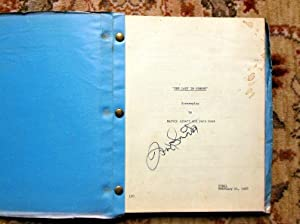 "1968 Original FRANK SINATRA - SIGNED - SCREENPLAY / SCRIPT ""THE LADY IN CEMENT"" Rare..."
