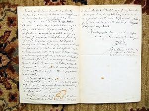 1867 JULES-EMILE PLANCHON HANDWRITTEN LETTER to DR. V.A. SIGNORET, plus two of J.-E. Planchon's...