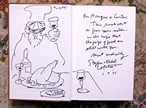 JOYS OF JEWISH COOKING by STEPHEN & ETHEL LONGSTREET SIGNED and INSCRIBED with ORIGINAL DRAWING