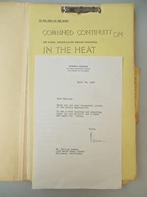 1967 IN THE HEAT OF THE NIGHT ORIGINAL CONTINUITY / SCREENPLAY with ACADEMY AWARDS RELATED SIGNED...