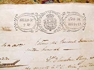 1845 CUBAN DOCUMENT Granting RIGHTS to a BLACK SLAVE Signed by GENERAL O'DONNELL: General ...