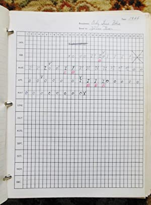 1966 A HORSE BREEDER'S BINDER w/150-200 Handwritten & Official Sheets w/ ...
