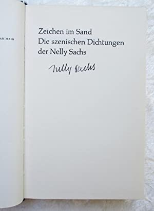 NELLY SACHS *SIGNED* ZEICHEN IM SAND Poems Jewish Holocaust Mystical Poet NOBEL LAUREATE