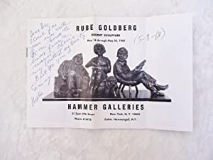 RUBE GOLDBERG **SIGNED & INSCRIBED** Famous Cartoonist Sculpture Exhibition Catalog 1968