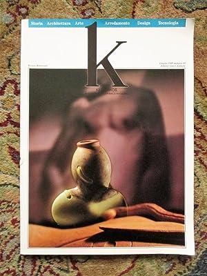 1989 K : KERAMIKOS INTERNATIONAL CERAMICS MAGAZINE: Aldo Rossi, et