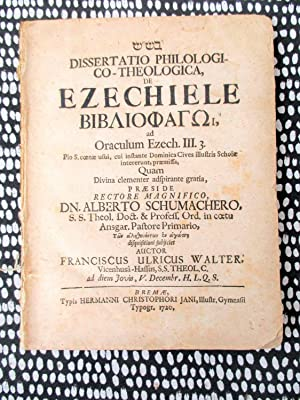 1720 BOOK OF EZEKIEL Philological & Theological BIBLICAL DISSERTATION in Latin