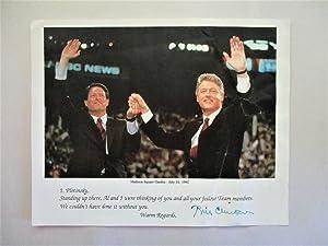 1992 BILL CLINTON **HAND SIGNED** DEMOCRATIC CONVENTION: President Bill Clinton