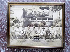 1929 BURLINGAME, California, PERSHING GRAMMAR SCHOOL Kindergarten Class FRAMED PHOTOGRAPH Cute Ki...